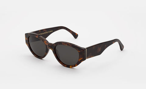 Super - Drew Mama Classic Havana Sunglasses / Black Lenses
