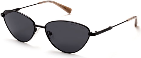 Kenneth Cole - KC7235 Matte Black Sunglasses / Smoke Polarized Lenses