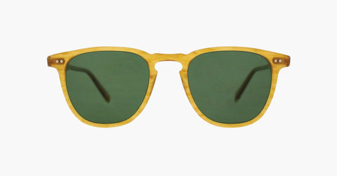 Garrett Leight - Brooks Butterscotch Sunglasses / Green Polarized Lenses