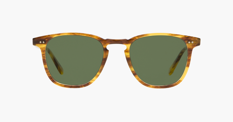 Garrett Leight - Brooks Pinewood Sunglasses / Semi Flat Blue Smoke Lenses