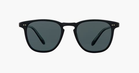 Garrett Leight - Brooks Matte Black Sunglasses / Blue Smoke Polarized Lenses