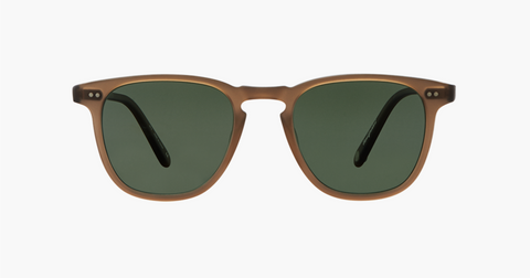 Garrett Leight - Brooks Matte Espresso Sunglasses / G15 Polarized Lenses