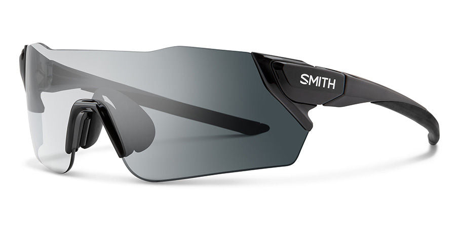 Smith - Attack 125mm Black Sunglasses / Photochromic Clear Gray Gradient + ChromaPop Contrast Rose Lenses