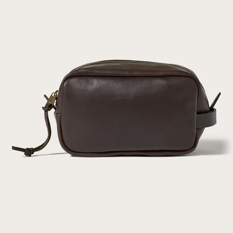 Filson - Weatherproof Sierra Brown Leather Travel Kit