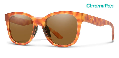 a3cc65c4fa Smith - Caper Matte Golden Tortoise Sunglasses   ChromaPop Polarized Brown  Lenses