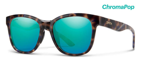 Smith - Caper Violet Tortoise Sunglasses / ChromaPop Opal Mirror Lenses
