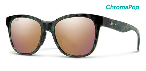 Smith - Caper  Camo Tortoise Sunglasses / ChromaPop Polarized Rose Gold Lenses