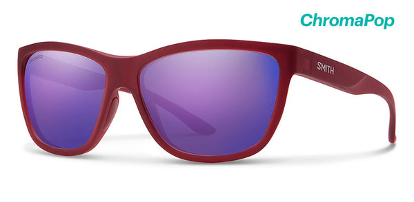 Smith - Eclipse Matte Crystal Deep Maroon Sunglasses / ChromaPop Violet Mirror Lenses