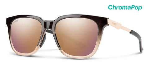 Smith - Roam 53mm Ombre Fade Sunglasses / Chromapop Polarized Rose Gold Mirror Lenses
