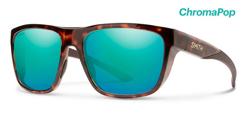 Smith - Barra 59mm Tortoise Sunglasses / Chromapop Plus Polarized Opal Mirror Lenses