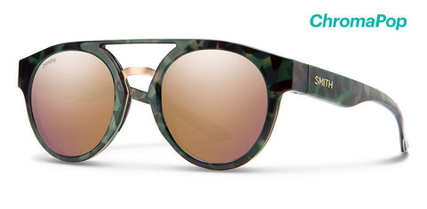 Smith - Range Camo Tortoise Sunglasses / ChromaPop Polarized Rose Gold Lenses