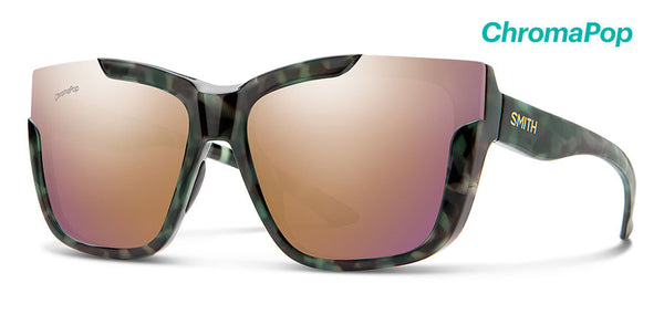 Smith - Dreamline Camo Tortoise Sunglasses / ChromaPop Polarized Rose Gold Lenses