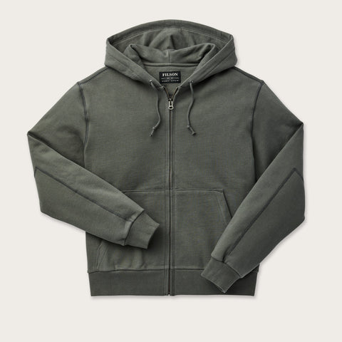 Filson - Heavyweight 15 oz Gray Fleece Zip-Up Hoodie