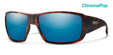 Smith - Guide's Choice Matte Havana Sunglasses / ChromaPop Glass Polarized Blue Mirror Lenses