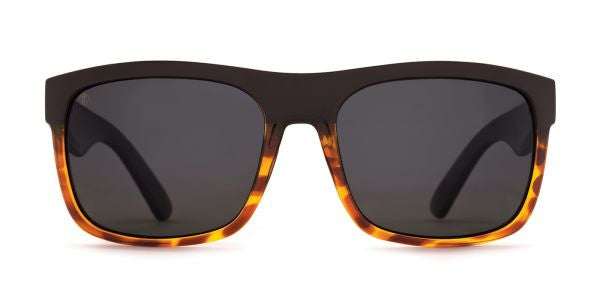 Kaenon - Burnet XL Matte Black / Tortoise Sunglasses, G12 Grey Lenses