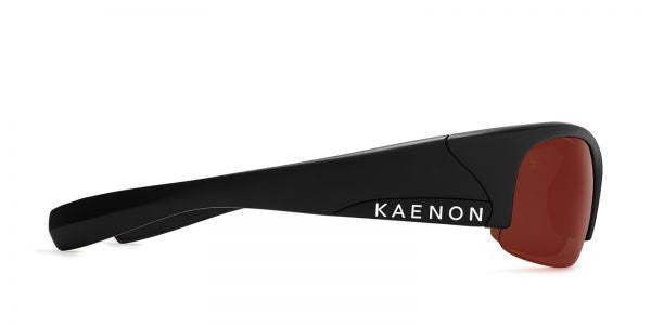 Kaenon - Hard Kore Matte Black/White Sunglasses, C12 Copper-Silver Mirror Lenses