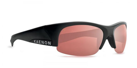 Kaenon - Hard Kore Matte Black/White Sunglasses, C28 Copper-Silver Mirror Lenses