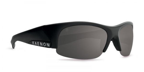 Kaenon - Hard Kore Matte Black/White Sunglasses, G12 Grey-Black Mirror Lenses