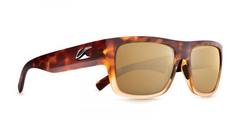 Kaenon - Montecito Matte Tortoise Fade Sunglasses, B12 Brown-Gold Mirror Lenses