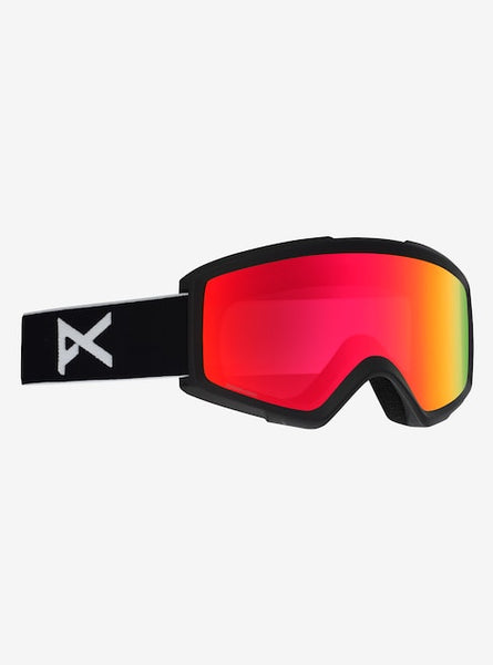 Anon - Men's Helix 2.0 Black Snow Goggles / Sonar Red + Spare Amber Lenses