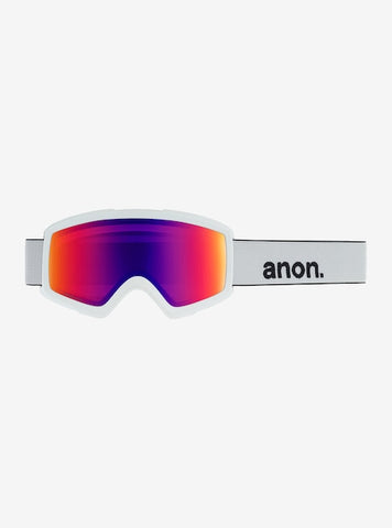 Burton - Men's Anon Helix 2.0 Sonar White Snow Goggles / Sonar Infrared Blue + Amber Lenses