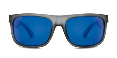 Kaenon - Burnet Mid Carbon Matte Grip Sunglasses / Ultra Grey 12 Pacific Blue Mirror Lenses
