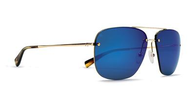 Kaenon - Coronado Gold Sunglasses / Grey 12 Pacific Blue Mirror Lenses