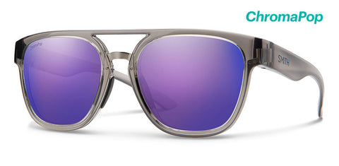 Smith - Agency Cloud Sunglasses / ChromaPop Violet Mirror Lenses