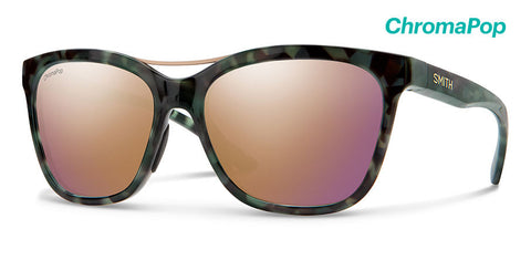 Smith - Cavalier Camo Tortoise Sunglasses / ChromaPop Polarized Rose Gold Lenses