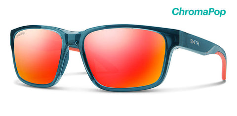Smith - Basecamp Crystal Mediterranean Sunglasses / ChromaPop Red Mirror Lenses