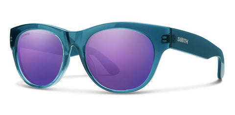 Smith - Sophisticate Crystal Mediterranean Sunglasses / Violet Mirror Lenses