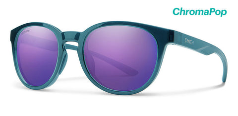 Smith - Eastbank Crystal Mediterranean Sunglasses / ChromaPop Violet Mirror Lenses