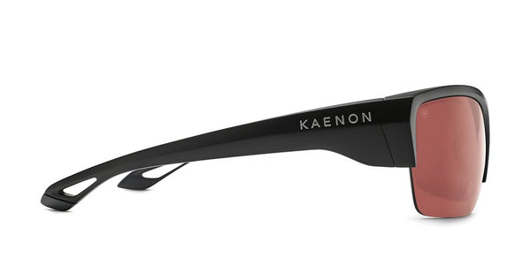 Kaenon - Arcata SR 63mm Matte Black Sunglasses / Copper 12 Silver Mirror Polarized Lenses