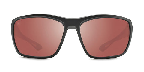 Kaenon - Arcata 64mm Matte Black Sunglasses / Copper 12 Silver Mirror Polarized Lenses