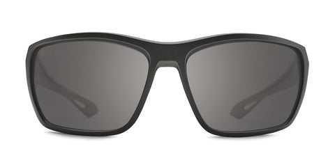 Kaenon - Arcata 64mm Matte Black Sunglasses / Ultra Black Mirror Polarized Lenses