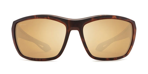 Kaenon - Arcata 64mm Matte Tortoise Sunglasses / Ultra Gold Mirror Polarized Lenses