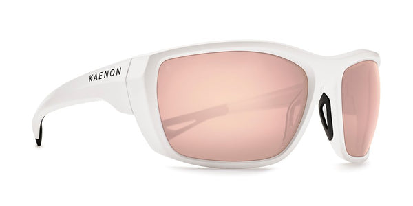 Kaenon - Arcata 64mm Matte White Sunglasses / Copper 50 Polarized Lenses