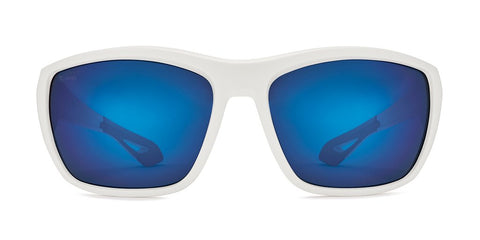 Kaenon - Arcata 64mm Matte White Sunglasses / Ultra Pacific Blue Polarized Lenses