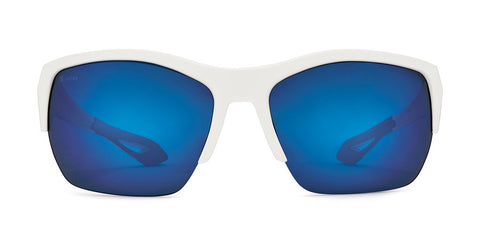 Kaenon - Arcata SR 63mm Matte White Sunglasses / Ultra Pacific Blue Polarized Lenses