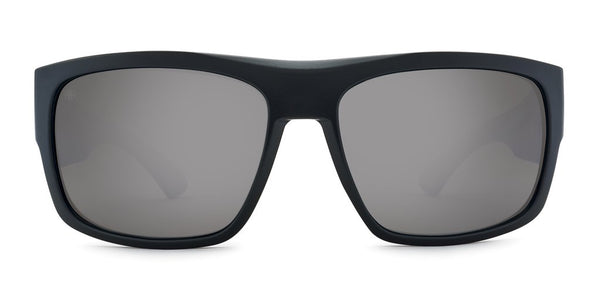 Kaenon - Burnet FC 59mm Matte Black Sunglasses / Ultra Grey 12 Pacific Blue Mirror Polarized Lenses