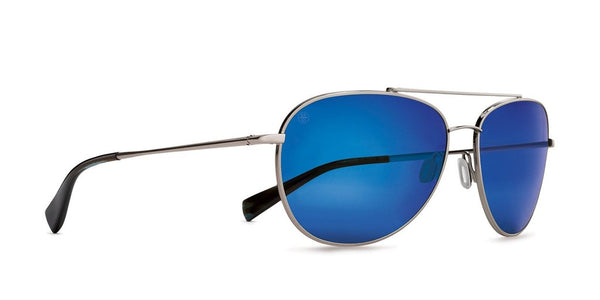 Kaenon - Driver 60mm Gun Metal Blue Tortoise Sunglasses / Pacific Blue Mirror Polarized Lenses