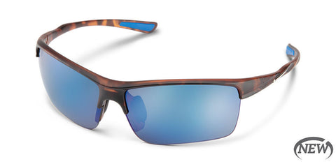 Suncloud - Sable Matte Tortoise Sunglasses / Polarized Blue Mirror Lenses