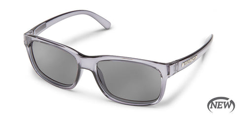 Suncloud - Stand Transparent Gray Sunglasses / Polarized Gray Lenses