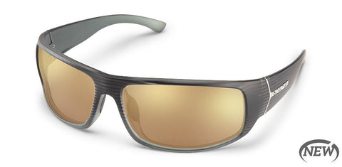 Suncloud - Turbine Burnished Gray Sunglasses / Polarized Sienna Mirror Lenses