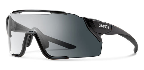 Smith - Attack Mtb 130mm Black Sunglasses / Photochromic Clear Gray Gradient + ChromaPop Low Light Amber Lenses