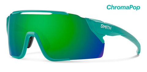Smith - Attack Mtb 130mm Matte Jade Sunglasses / Chromapop Green Mirror + ChromaPop Low Light Amber Lenses