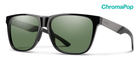 Smith - Lowdown Xl Steel 59mm Black Sunglasses / Chromapop Polarized Gray Green Lenses