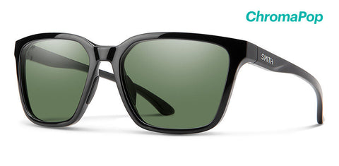 Smith - Shoutout 57mm Black Sunglasses / Chromapop Polarized Gray Green Lenses