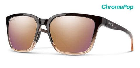Smith - Shoutout 57mm Ombre Fade Sunglasses / Chromapop Rose Gold Mirror Lenses