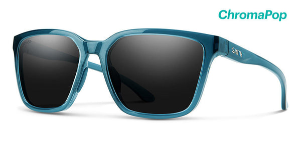 Smith - Shoutout 57mm Crystal Mediterranean Sunglasses / Chromapop Polarized Black Lenses
